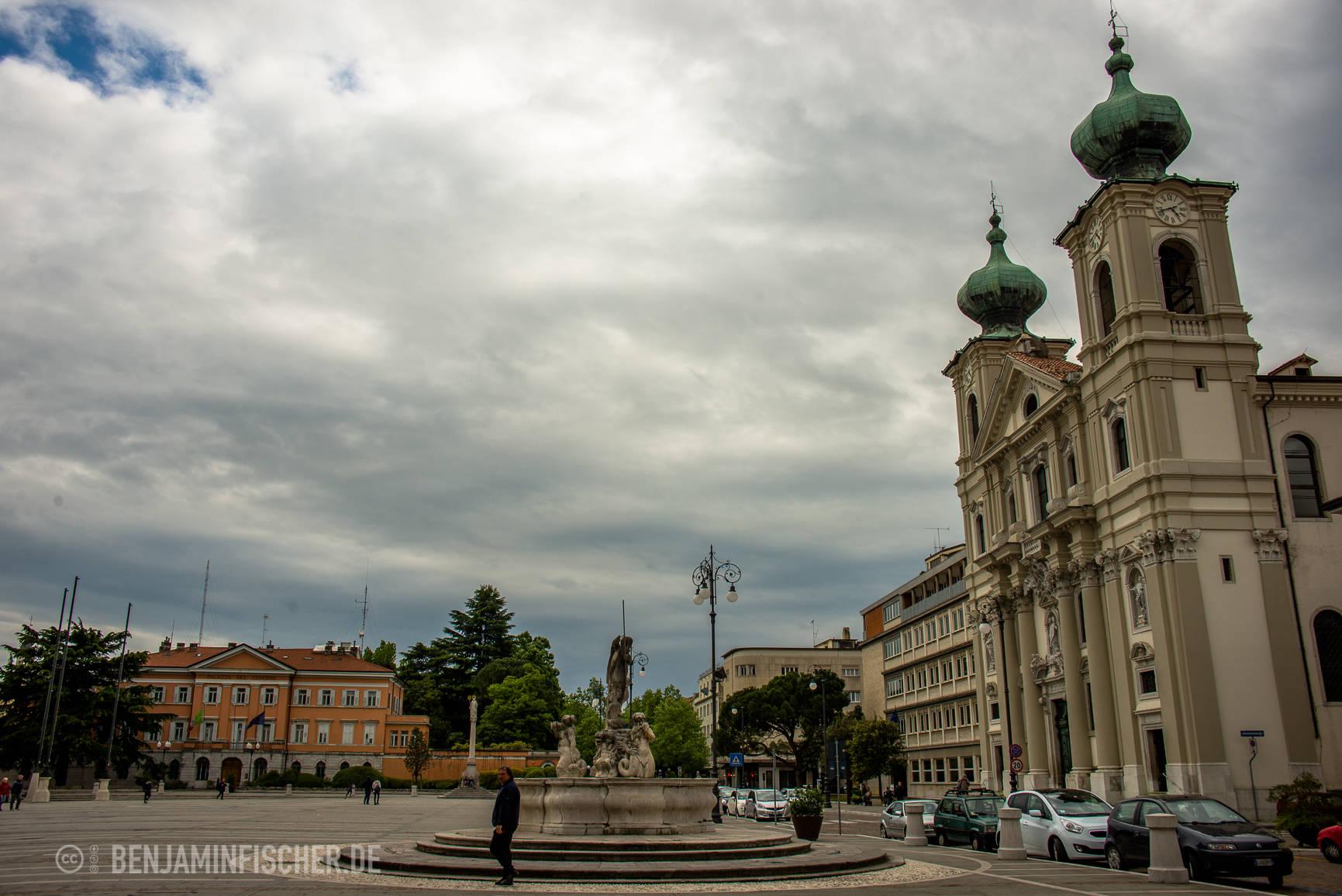 Piazza della Vittoria in Gorizia, Italien