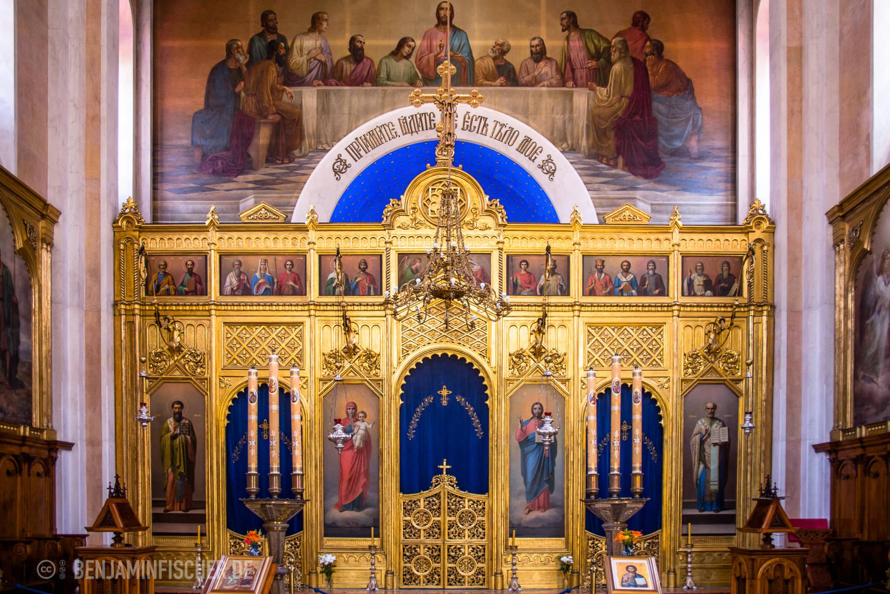 In einer orthodoxen Kirche in Dubrovnik